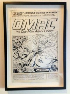 Jack Kirby Original Art OMAC 5 Splash Page 1975