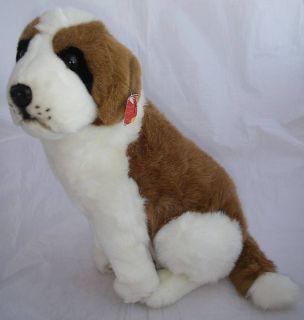 Classic Plush St Bernard Brown White Dog 14 Tall