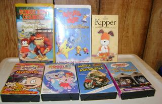 21 CHILDRENS VIDEOS KIPPER NOZZLES FRANKLIN ROLIE POLIE OLIE ELMO MORE