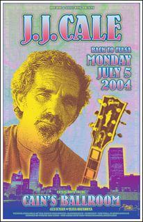 Cale in Tulsa 2004 Original Signed Concert Poster