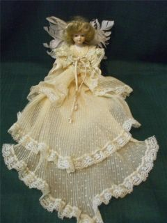 Louis Nichole 1983 Porcelain Angel Doll Christmas Tree Topper Orig Box