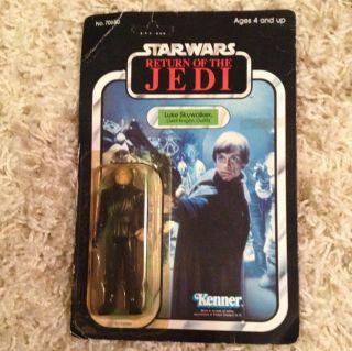 Wars ROTJ Luke Skywalker Jedi Knight 65 Back Vintage Unpunched