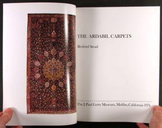 Book Antique Ardabil Carpets 16th Century Persian Rugs