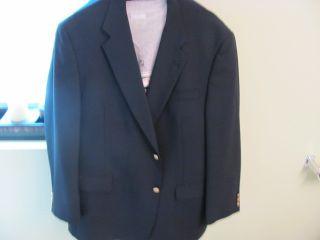 JACK NICKLAUS BELKS 100 WOOL Button NAVY BLUE Blazer Sport Coat Jacket