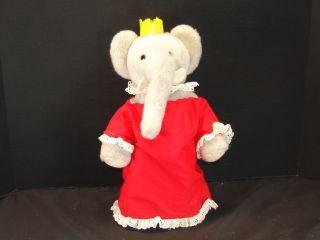 in Haiti Babar Elephant Queen Celeste Plush Stuffed Animal Toy