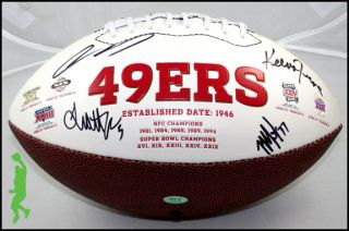 2012 San Francisco 49ers Team Signed Wilson NFL Football Colin