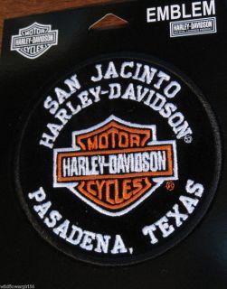 NIP SAN JACINTO HARLEY DAVIDSON DEALER PATCH Pasadena BIKER