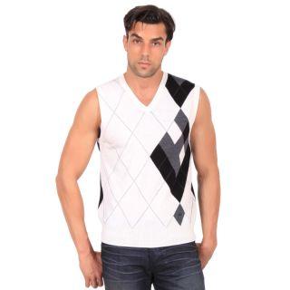 Lindeberg Mens Merino Wool Vest in Off White Sz L