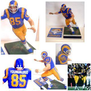 Custom 1973 Los Angeles Rams Jack Youngblood Hall Of Fame McFarlane