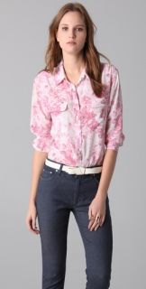 Equipment Signature Cabbage Rose Print Blouse
