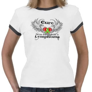 Cure Non Hodgkins Lymphoma Heart Tattoo Wings Tshirts