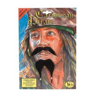 PIRATE BEARD TASH Black Jack Sparrow Sailor Stick On Theatre NEW