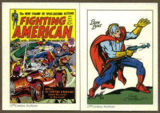ART TRIBUTE TO JOE SIMON & JACK KIRBY Complete Boxed Trading Card Set
