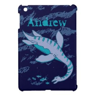 Plesiosaur kids sea dinosaur blue aqua mini case iPad mini cases