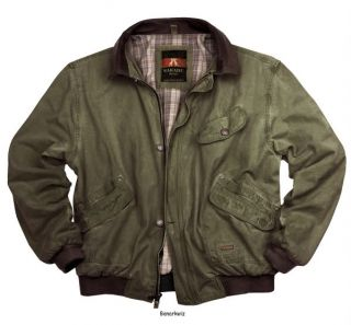 Kakadu Double Bay Bomber Jacket Mens Canvas Loden Green Work Casual