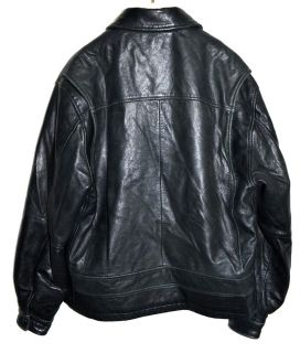Studio Mens Black Butter Leather w/ Thinsulate Zip Out Lining Sz M