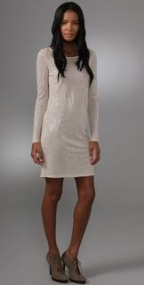 Haute Hippie Studded Long Sleeve Dress