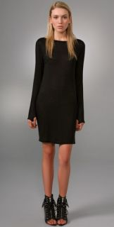 T by Alexander Wang Long Sleeve Boat Neck Dress