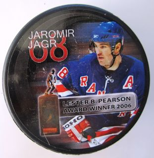 2006 Jaromir Jagr New York Rangers NHL Hockey Photo Puck Lester
