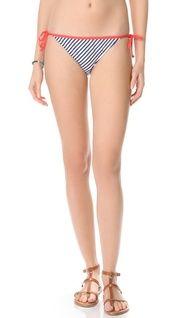 Splendid Malibu Stripe Triangle Bikini Top