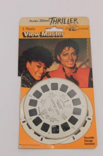 Michael Jackson Thriller 3 Reels View Master w 3D View Master