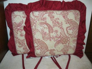 New Jaclyn Smith Chair Pads• Patio Cushions •Reversible
