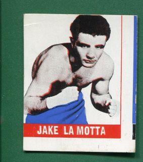 1948 LEAF BOXING CARD JAKE LAMOTTA FRONT w JACK DEMPSEY BACK EXTREMELY