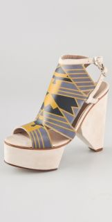 Surface to Air Louna Art Deco Platform Sandals Save 20% with