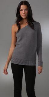 Halston Heritage One Shoulder Sweater