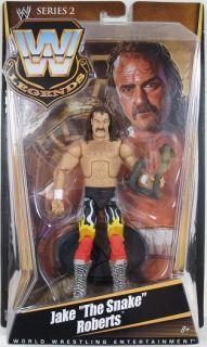 WWE Legends Series 2 Jake The Snake Roberts Figure NIP Mattel 2010