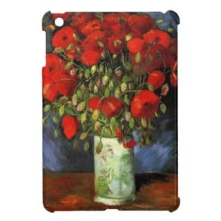 Van Gogh; Vase with Red Poppies, Vintage Flowers iPad Mini Case