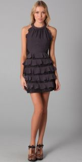 Rebecca Taylor Halter Dress with Lace Detail