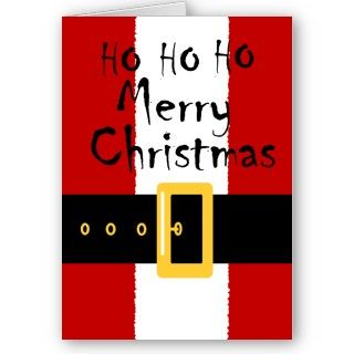 graphic design of a Santa Suit on a number of products, The text