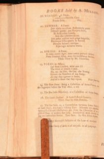 1730 The Seasons Thomson A Poem to The Memory of Sir Isaac Newton
