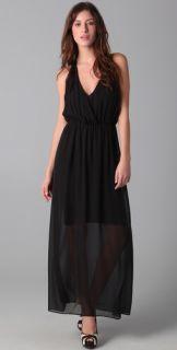 alice + olivia V Neck Chiffon Gown