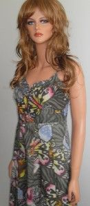 Sale New Ladies Mango Tropical Print Cotton Dress