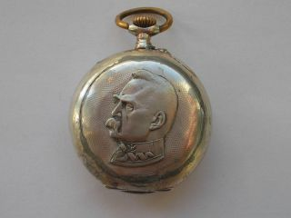 The Original Beautiful Silver Watch Marshall Jozef Pilsudski