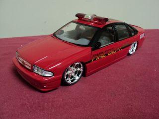 Jada 1996 Chevrolet Impala SS Dub City Fire Dept 1 24 Scale no longer