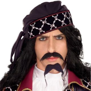 PIRATE BEARD TASH Black Jack Sparrow Caribbean Sailor Moustache