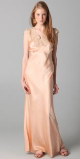 WGACA Vintage Vintage Lace and Satin Long Slip Dress