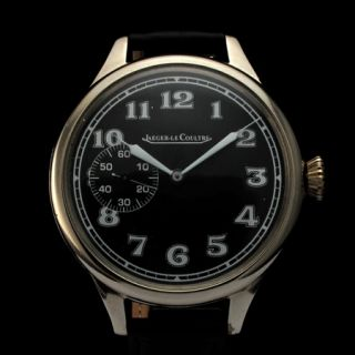 Mens Historic 1940s Jaeger LeCoultre Vintage Military Watch WWII Era