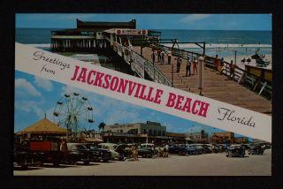 Pier Oecan Amusement Rides Stores Signs Cars Jacksonville Beach FL PC