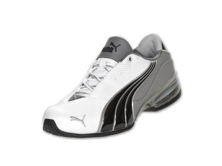 Puma Cell Jago 6 LN White Steel Grey Black Mens Athletic Sneakers Size