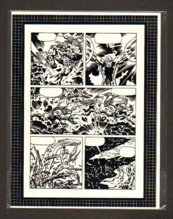 Silver Surfer Jack Kirby Original Production Art Page