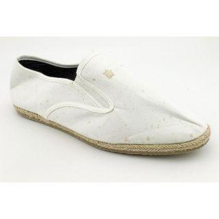 American Rag Jacob Mens Size 9 White Textile Flats Shoes No Box