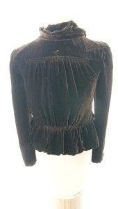 Stunning Marc Jacobs Brown Velvet Jacket Size 6