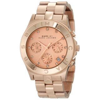 New Marc Jacobs Blade Rose Gold Pink Dial Womens Watch MBM3102