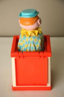 Vtg Fisher Price Toy 1970 Jack in The Box Puppet 138