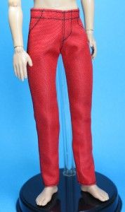 Denim Red Black Skinny Jeans Pants for Liv Jake Doll