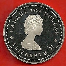 1984 Canada Jacques Cartier Silver Dollar